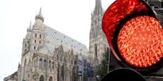 Ganz Österreich bleibt rot auf der Corona-Ampel