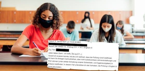Trotz Lockdown will die FH ihre Studenten vor Ort prüfen.