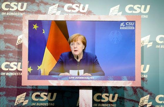 Die deutsche Bundeskanzlerin Angela Merkel wagte einen Ausblick auf die kommenden Monate.