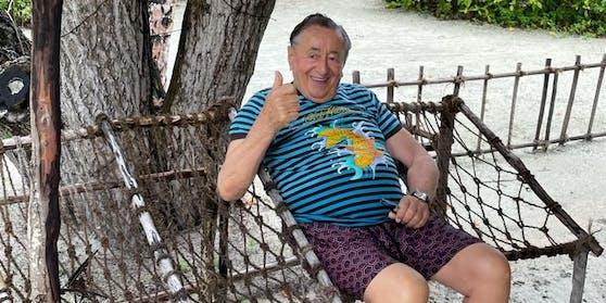 Richard Lugner hat wieder Traumwetter auf den Malediven.