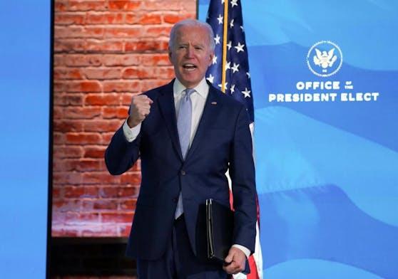 """Joe Biden sprach von einem Angriff auf die Demokratie. """"Das Capitol zu stürmen, ist kein Protest. Es ist Aufruhr."""""""
