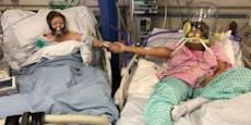 Corona: Hier nehmen Mutter und Tochter Abschied