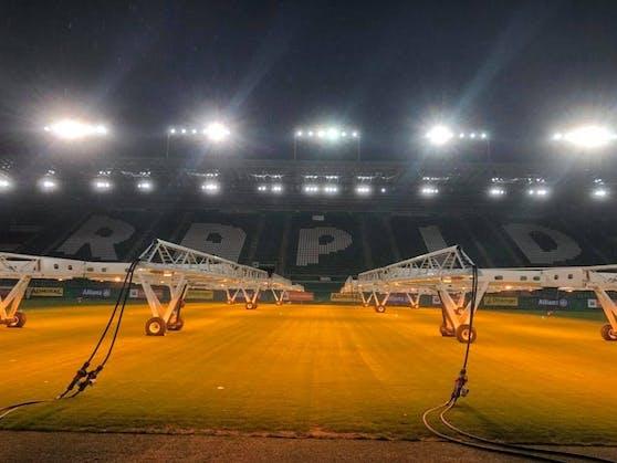 Überdimensionale Wärmelampen kommen im Allianz Stadion zum Einsatz.