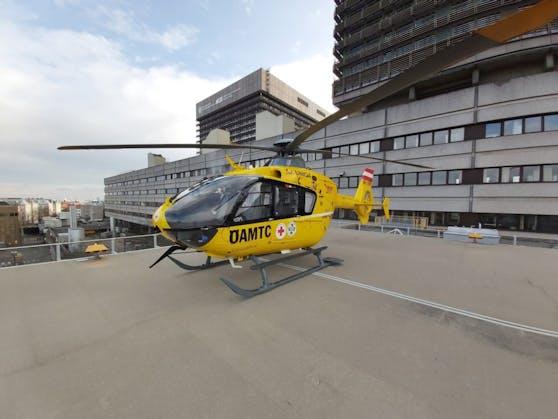 Der C33 flog den Patienten zur Lungentransplantation ins AKH Wien.