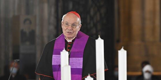 Kardinal Christoph Schönborn am Dienstag, 03. Nevember 2020, im Rahmen eines Trauergottesdienstes im Stephansdom in Wien.