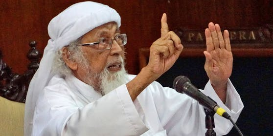 Abu Bakar Bashir wurde über 18 Jahre nach den Anschlägen in Bali 2002 aus der Haft entlassen.