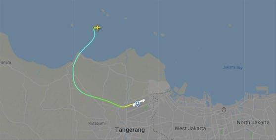 Ein Flugzeug von Sriwijaya Air ist kurz nach dem Start vom Radar verschwunden.