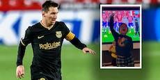 Messi-Sohn feiert nach Freistoß-Treffer des Papas