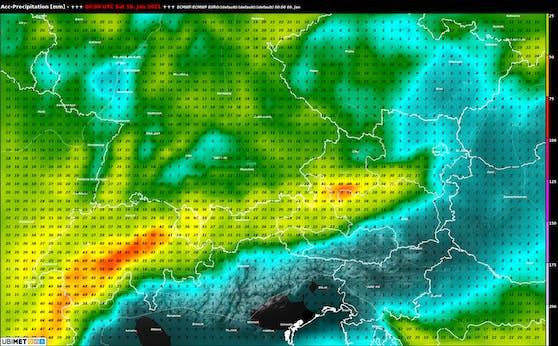 Niederschlag bis Samstag