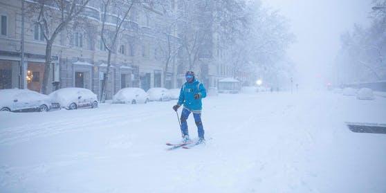 Außergewöhnlich: Seit fast zehn Jahren schneite es in Spanien nicht mehr.