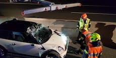 Wem gehört dieses Unfallwrack auf der S5?