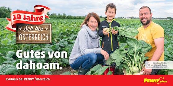 Die PENNY Eigenmarke 'Ich bin Österreich' steht für frisches und saisonales Obst und Gemüse aus der Region.