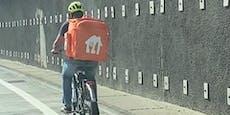 """Essenslieferant """"gibt Gas"""" auf der Wiener Autobahn"""