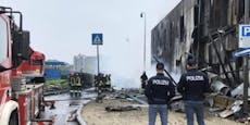 Acht Tote bei Absturz von Privat-Jet in Mailand