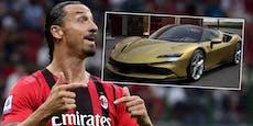 Ibrahimovic schenkt sich zum 40er goldenen Ferrari