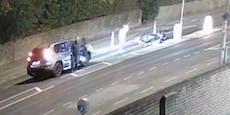 Polizisten werten Unfallvideo aus und werden stinksauer