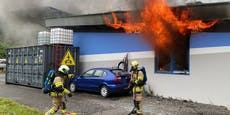 Großbrand in KFZ-Werkstatt –7 Feuerwehren im Einsatz