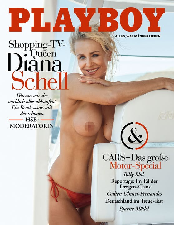 "Diana Schell am ""Playboy""-Cover"