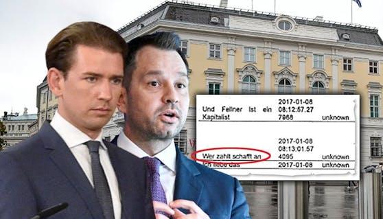Kanzler Kurz und Thomas Schmid kommen unter Druck.