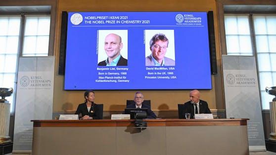 Der Deutsche Benjamin List und der in Schottland geborene US-Amerikaner David McMillan wurden mit dem Chemie-Nobelpreis ausgezeichnet.