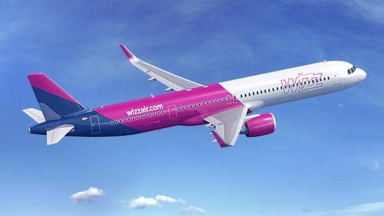 Der Airbus A321neo im Wizz-Look