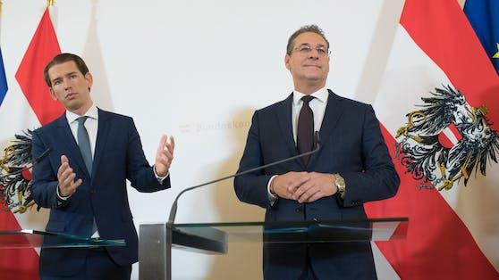 Bundeskanzler Kurz und Ex-Vizekanzler Strache. Nach dem Ibiza-Video folgte das Aus der ÖVP-FPÖ-Koalition.