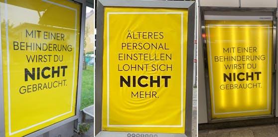 Diese Plakate sorgten für öffentliche Aufregung.