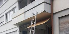 Hanfdieb stiehlt Balkon-Pflanzen, lässt Leiter stehen