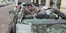 Mann fällt aus dem 9. Stock auf BMW – und überlebt