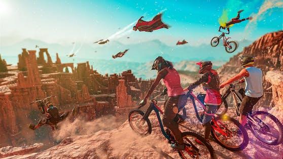 """PC Play Day für """"Riders Republic"""" am 12. Oktober exklusiv auf Ubisoft Connect PC."""