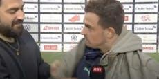 Schweiz-Kicker bekommt im TV Jacke von Kosovo-Kämpfern