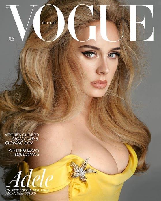 """Pop-Superstar Adele ist zurück: Und das zelebriert sie auf der November-Ausgabe der britischen """"Vogue""""."""