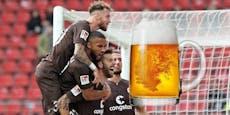 Burgstaller-Klub St. Pauli setzt vor Spiel auf Bier