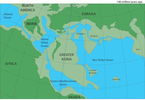 """""""Greater Adria"""" war einst Teil von Nordafrika und löste sich vor 200 Millionen Jahren davon ab."""
