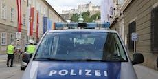 Frau kracht in Rot-Kreuz-Gebäude und versteckt sich