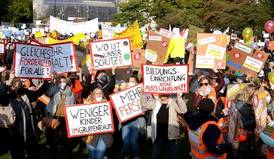 Kindergarten Protest in Wien, auch in OÖ gibt es viel Kritik.
