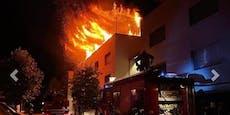 Feuer zerstört Wohnblock – 100 Floriani im Einsatz