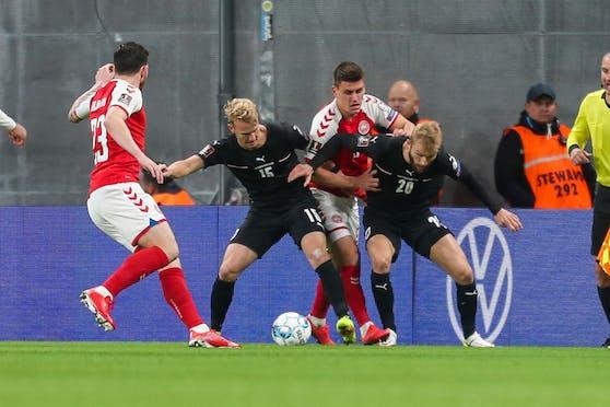 Marco Grüll und Konrad Laimer gegen Dänemark