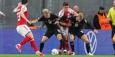 0:1! Ideenloses ÖFB-Team verliert in Dänemark