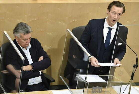 Finanzminister Gernot Blümel stellte sich am Dienstag einer parlamentarischen Anfrage.