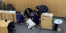 Schock im Parlament: Abgeordnete bricht zusammen