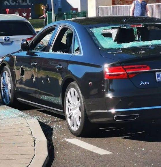 Es war allerdings der falsche Audi, den er beschädigte.