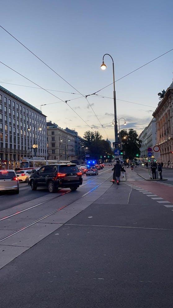 Verkehrschaos in der Wiener City