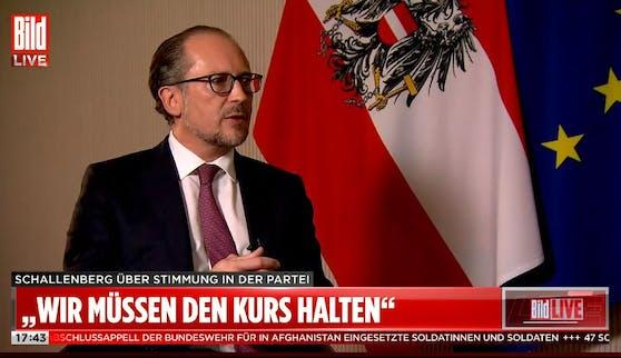 """Neo-Kanzler Alexander Schallenberg stellte sich Knallhart-Fragen bei """"Bild""""."""