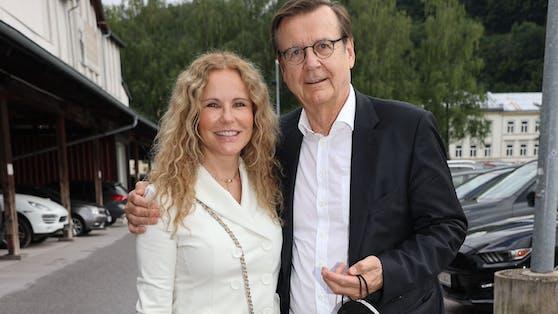 Katja Burkard mit ihrem Lebensgefährten Hans Mahr
