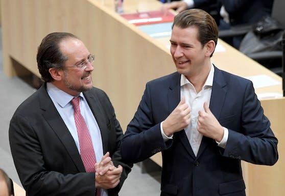 Da hatten sie noch gut lachen: Eine neue Umfrage stürzt die ÖVP und Ex-Kanzler Kurz tief in die Krise.