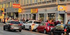 Supermarkt verschenkt 20 Euro – lange Schlange in Wien