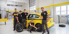 Österreicher knacken Weltrekord im Reifenwechsel
