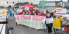Wieder Straßensperre in St. Pölten von S34-Befürwortern