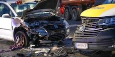 Crash auf der B1 bei Amstetten fordert einen Verletzten